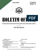1 BO n 5 - I Serie de 04-Fev-08 - SNCRF - Aprovacao Do SNCRF