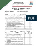 Ficha de Evaluacion Del Desempeño Laboral Docente