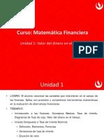 Matemática Financiera (Valor del Dinero en el Tiempo)