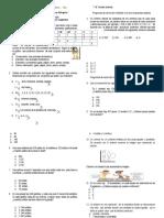 Cuestionario Matematicas Grado 4o
