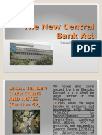 The New Central Bank Act