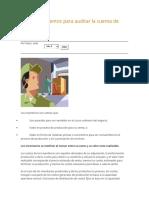 Procedimientos Para Auditar La Cuenta de Inventarios
