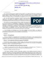 Reglamento de Seguridad Para Actividades de Hidrocarburos