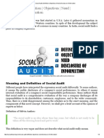 Social Audit _ Definition _ Objectives _ Need _ Disclosure of Information