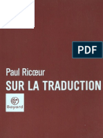 Paul Ricoeur-Sur La Traduction