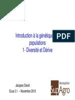 Cours 2010 Diversite Derive