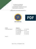 Informe de Psicometría Intensivo Udo 20162
