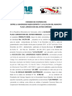 Convenio de Cooperacion Alcaldia Del Municipio Plaza