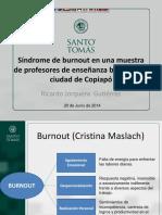 Presentación Seminario Salud Ocupacional Docentes Burnout