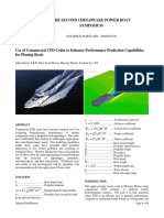 Use of Commercial CFD Codes to Enhance Performance Prediction Capabilities for Planning Boats
