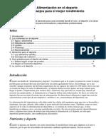Alimentación En El Deporte - Consejos Para un Mejor Rendimiento.pdf