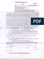 AFCAT Exam Previous Years Question Papers for AFCAT 2 2012