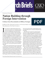 Nation Building through Foreign Intervention