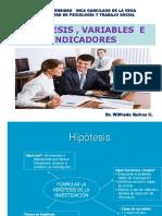 La Hipotesis Variables e Indicadores en la investigacion