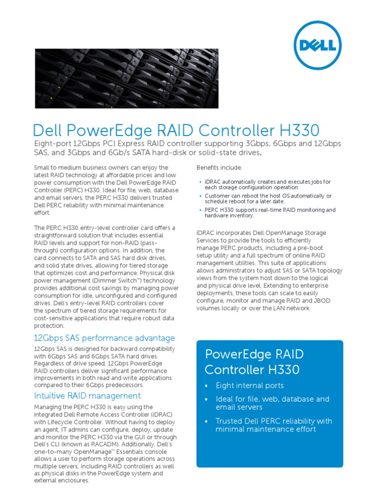 Dell PowerEdge RAID Controller H330[1] | Solid State Drive