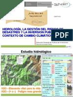 Hidrología, La Gestión Del Riesgo de Desastres y La Inversion Publica en Un Contexto de Cambio Climático