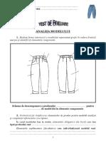 Test Analiza Pantaloni