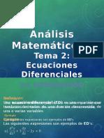 Tema 2 - Ecuaciones Diferenciales de Primer Orden