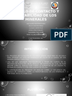 Ángulo de Contacto y Flotabilidad de Los Minerales (1)