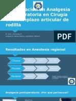 Actualización en Analgesia postoperatoria en Cirugía de Reemplazo