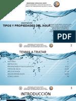 1. Tipos y Propiedades Del Agua (Fisicoquímica de Superficies)