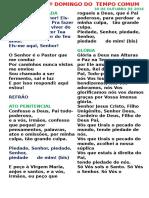 Folheto Missa Santa Bakita