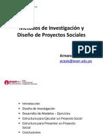 PPT Métodos de Investigación y Diseño de Proyectos Sociales