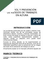 Control y Prevención de Riesgos de Trabajos Enalturas