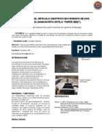 Preparación Del Articulo Cientifico en Formato de Dos Columnas