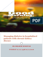Managing Diabetes in Hospitalized patients with CKD  UPDATE ppt