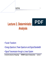 3008 Lecture2 Deterministic Signal Analysis