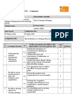 Pearson BTEC Level 7 Diploma in Strategic Change Management Assignment V7 SP