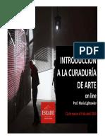 Introd a La Curaduria. María Lightowler