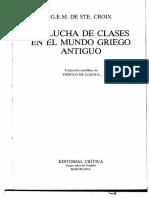 G.E.M. de Ste Croix, La Lucha de Clases en El Mundo Griego Antiguo (OCRed)