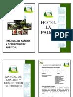 Manual de Analisis y Descripción de Puestos Hotel La Palma