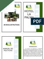 Manual de Politicas Hotel La Palma