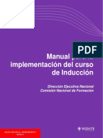 Manual Para La Implementacion Del Curso de Induccion 2016