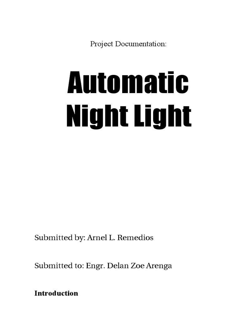 Automatic night light pcb layout - Project Documentation Automatic Night Light Printed Circuit Board Resistor