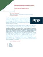 Estructura Del Analisis Literario de Una Obra o Cuento
