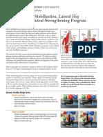 Pelvic Stabilization Hip Strengthening