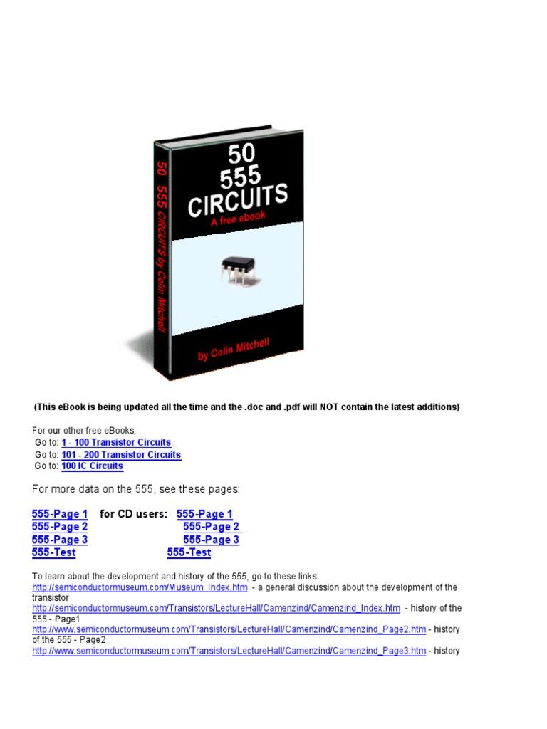 50 555circuitspdf Electronic Circuits Oscillator Ne555 Melody Circuit Electronics Projects
