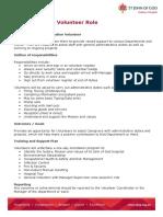 Admin Volunteer Role