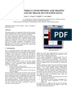 Analysis of Energy Comsumption and Traffic Flow by Means of Track Occupation Data