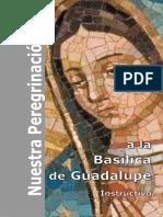 Instructivo peregrinaciones a la Basílica de Guadalupe
