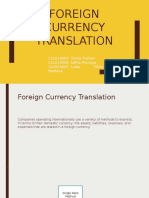 Foreign Currency Translation