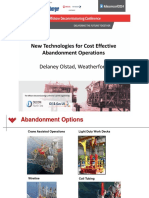 Abandonment Operations - New Technologies