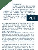 Realidad Economica y Postestad Calificadora de La Adm Tributaria - REPÚBLICA DOMINICANA