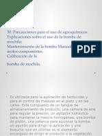 30. Precauciones Para El Uso de Agroquímicos.