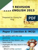 Spm Revision 2013