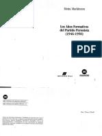 Mackinnon, Moira. Los Años Formativos Del Partido Peronista 1946-1950